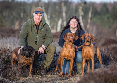Paul & Dawn with 3 Hungarian Vizslas